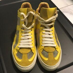 Yellow pair of Maison Martin Margiela MM6 sneakers